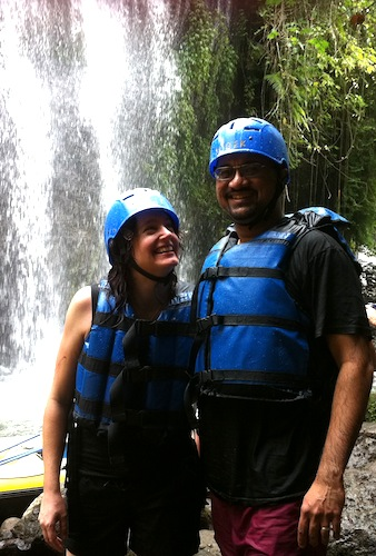 Steph & Ray - near the waterfall, Telaga Waja River, Bali