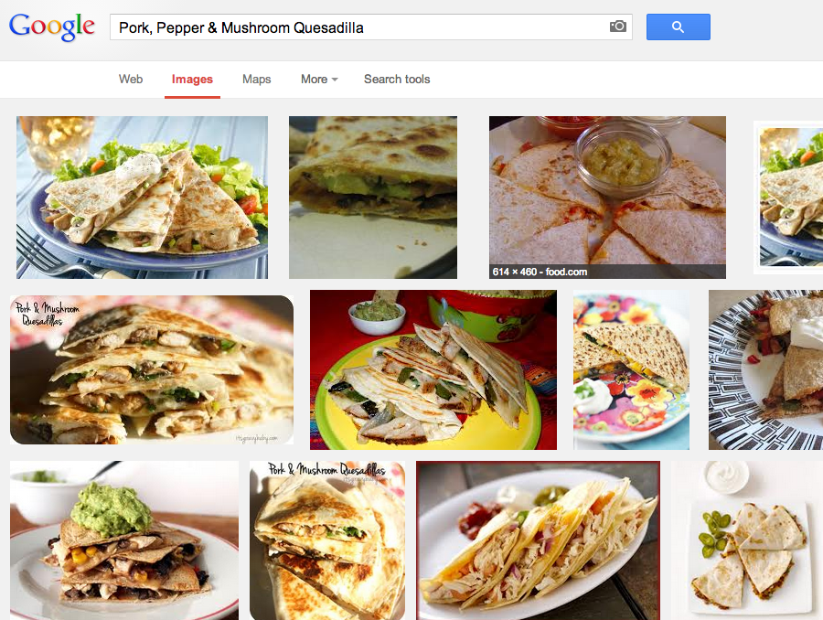 Google Images for food search